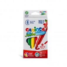 Μαρκαδόροι Carioca Σετ Jumbo 6 χρωμάτων.