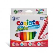 Μαρκαδόροι Carioca Σετ Jumbo 12 χρωμάτων.