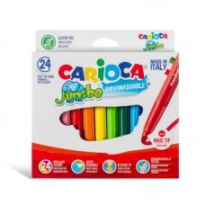 Μαρκαδόροι Carioca Σετ Jumbo 24 χρωμάτων.