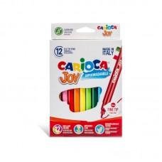 Μαρκαδόροι Carioca Super Joy 12 χρωμάτων.