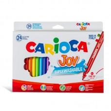 Μαρκαδόροι Carioca Super Joy 24 χρωμάτων.