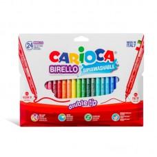 Μαρκαδόροι Carioca Birello 24 χρωμάτων.