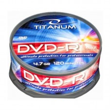 Dvd-R 4,7 Gb 16X Titanum Cake Box 25