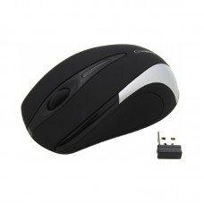 Mouse Esperanza Wireless Optical Antares Μαυρο/Ασημι